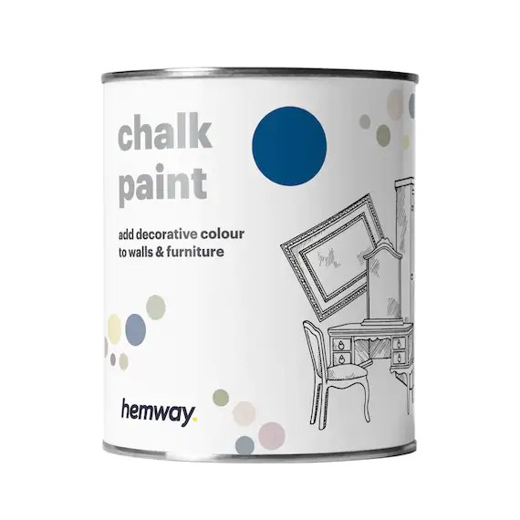 Once you've dipped your brush in the jar, remove the excess and apply evenly to your project. Shabby Chic Chalk Based Furniture Paint Hemway Premium Chalk Etsy