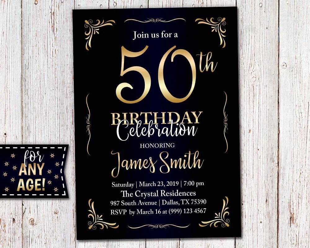 adult birthday invitation 40th birthday
