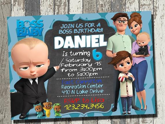 Baby Boss Invitation Baby Boss Birthday Party Baby Boss Etsy