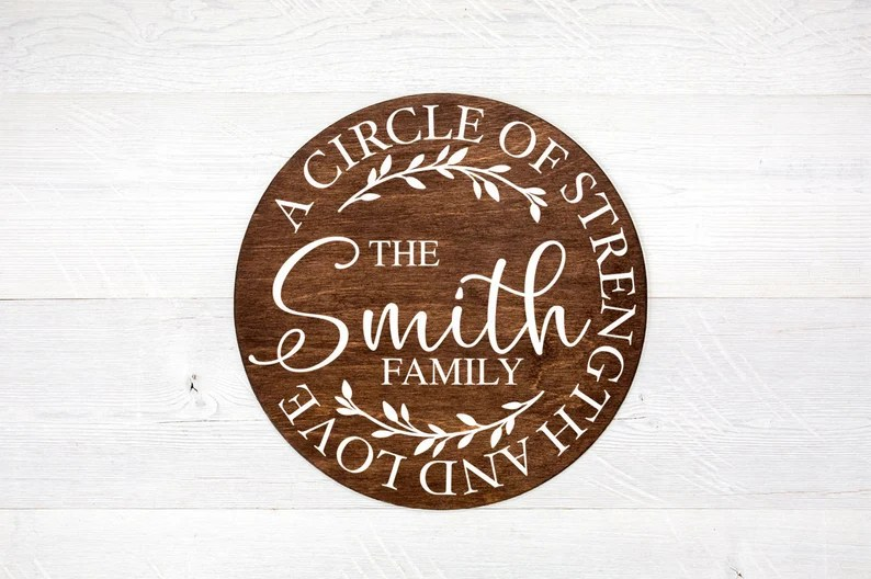 Download Family Last Name SVG A Circle Of Strength And Love Family ...