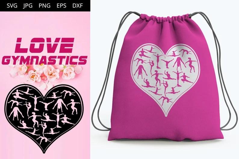 Download Gymnastics Women Love SVG Cut File Design Silhouette ...