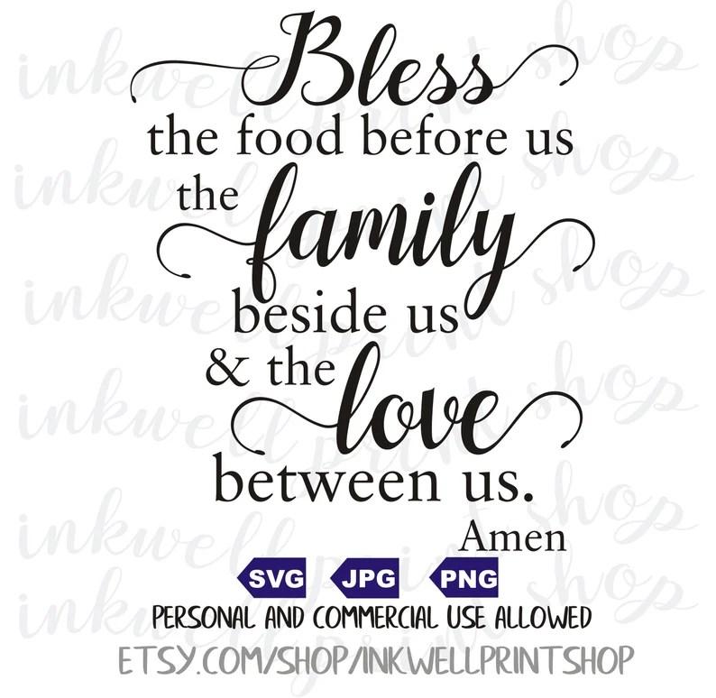Download Bless the food before us / Digital file / SVG / PNG / JPG ...