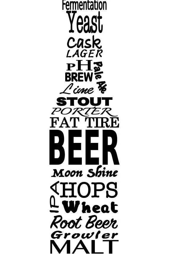 Download SVG Beer and beer brewing terms in the shape of a beer ...