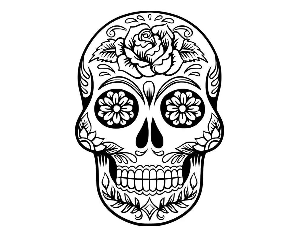 Sugar Skull SVG Candy Skull Svg Dxf Sugar Skull Black