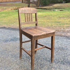 Antique Wood Chair Baby High Cover Etsy Rare Vintage The Sikes Company Arts Crafts Counter Stool