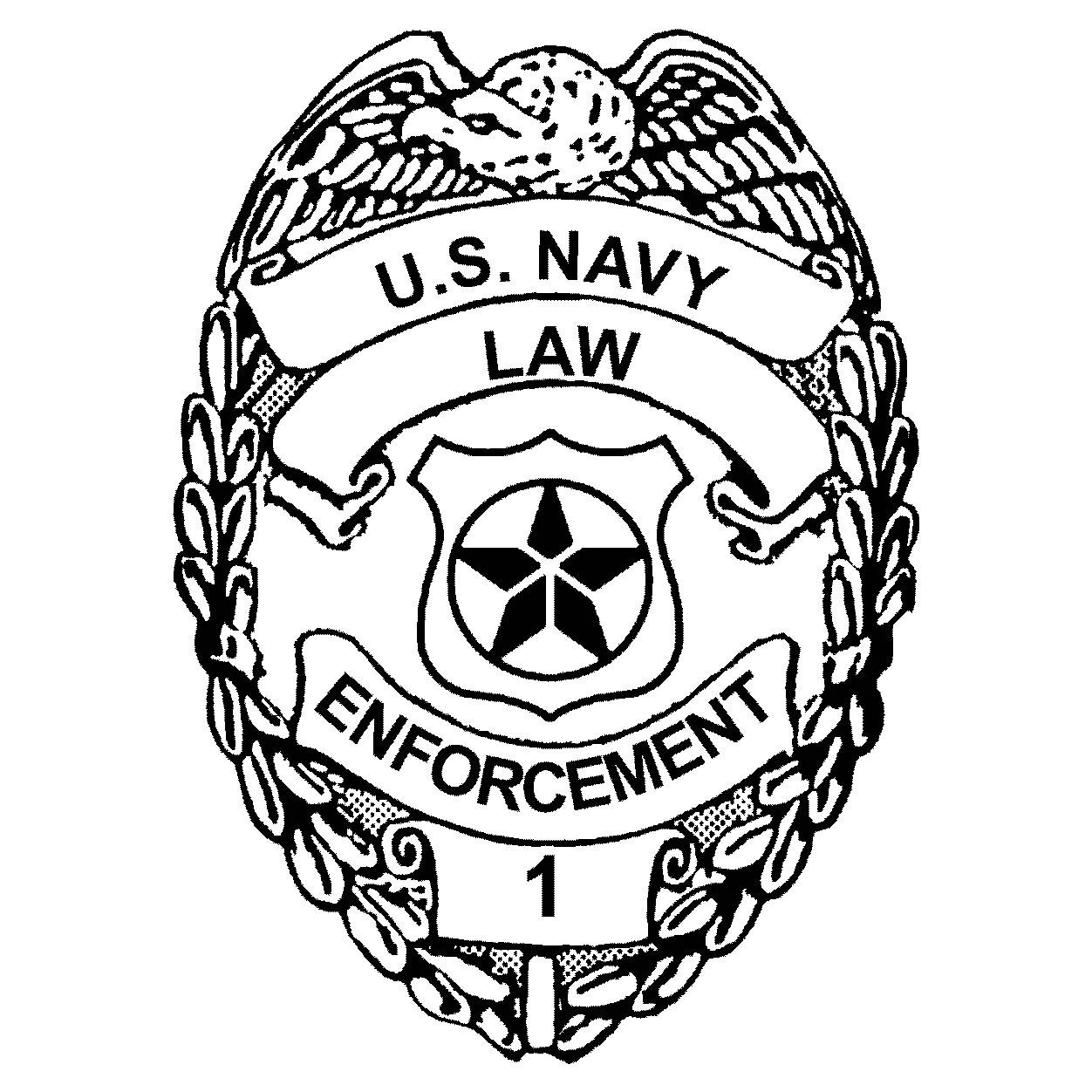 Master At Arms Military Police Badge Dxf File Format For