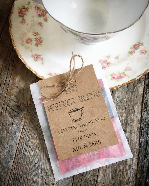 Tea Bag Favors Wedding Favor Vintage Style Tea Perfect Blend  Etsy