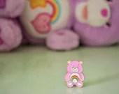 "Vintage Pin Club - 80s/90s Rainbow Care Bear ""Cheer Bear"" Enamel Pin Badge"