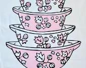 Vintage Pink Pyrex Gooseb...