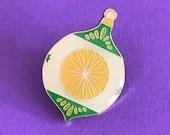 Vintage Pin Club - Christmas Bauble Green Enamel Pin Badge