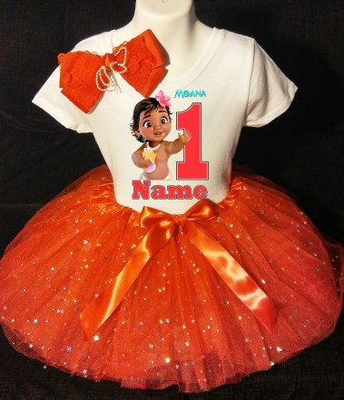 Moana first birthday outfit