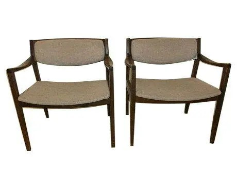 wh gunlocke chair captain bar stool with swivel etsy mid century modern chairs a pair