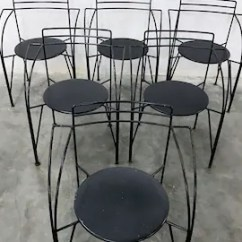 Metal Bistro Chairs Target Kids Chair Etsy 1of30 Cafe Or Postmodern Wire Lune D Argent Designed By Pascal Mourgue In The 1980s