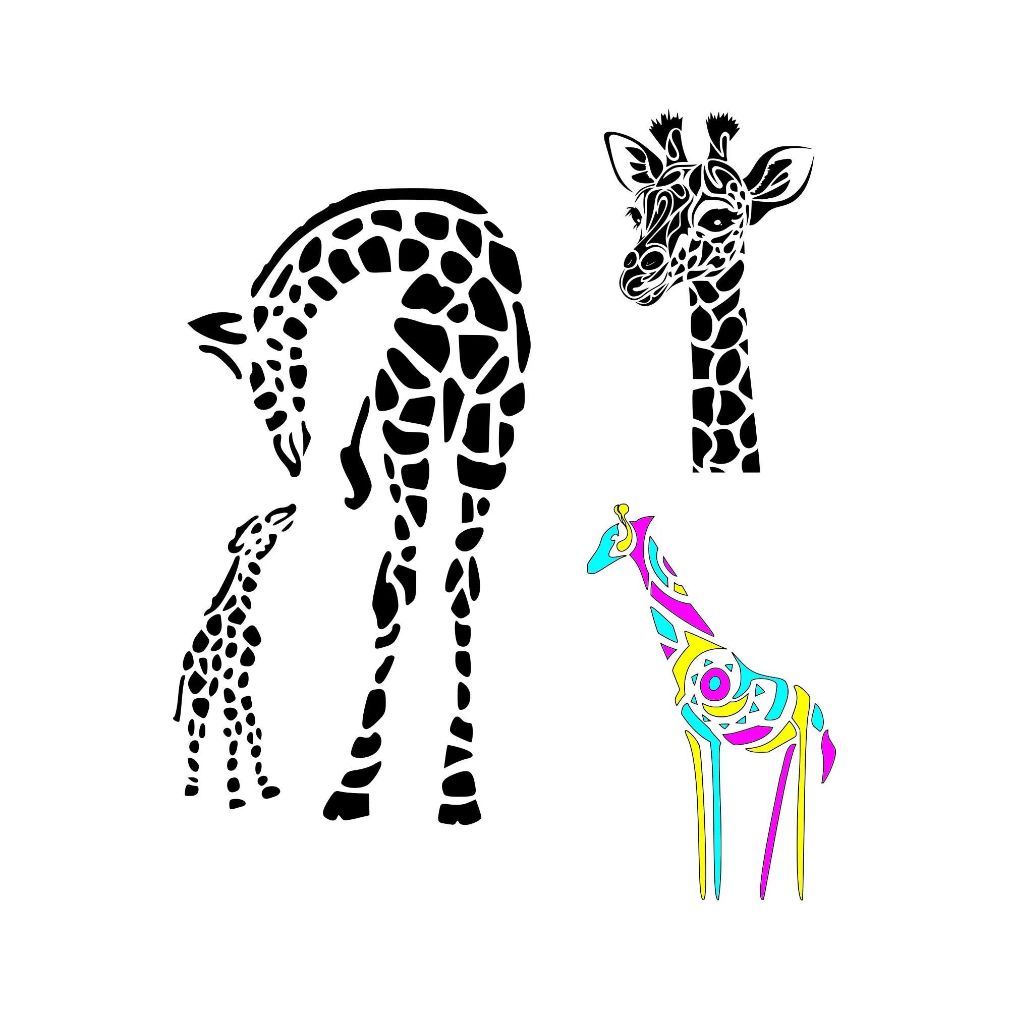 Giraffe Svg Mom And Baby Giraffe Svg Giraffe Print Svg Giraffe