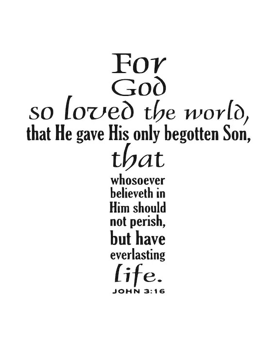 Christian saying svg Cross svg John 3:16 svg Holy Bible