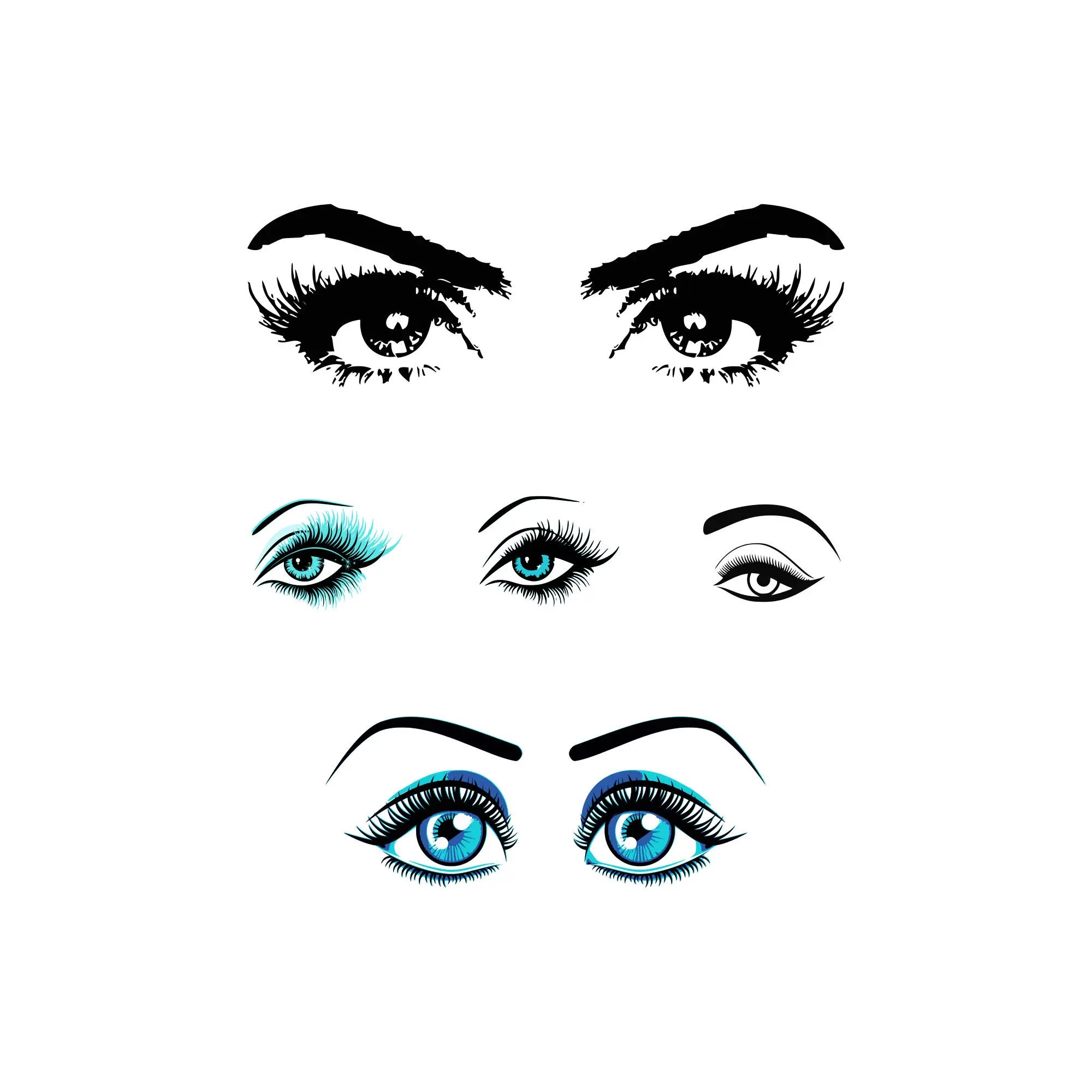 Eyelashes Svg Makeup Svg Eyes Svg Makeup Eyes Svg Stylist