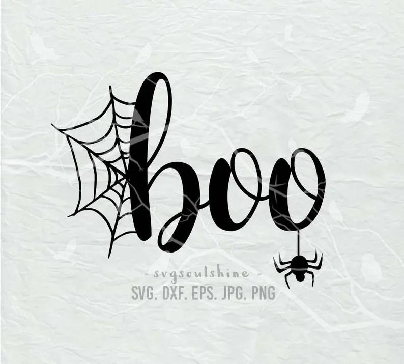 Download Halloween SVG boo SVG File Silhouette Cutting File Cricut ...