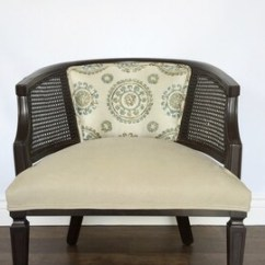 Mid Century Modern Cane Barrel Chairs Chair Cover Rental Michigan Etsy Back Vintage Reupholstered Hollywood Regency Mcm