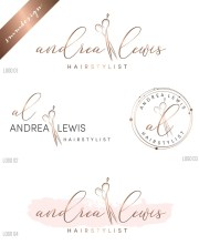 hairdresser logo design hair
