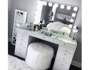 makeup vanity table etsy