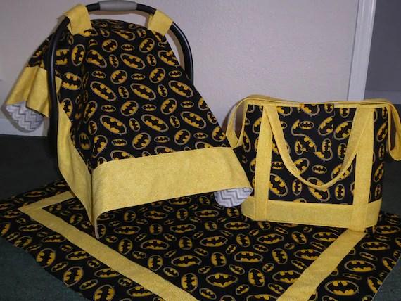 batman car chair bedroom fantastic furniture seat canopy cover matching diaper bag toddler tote etsy image 0