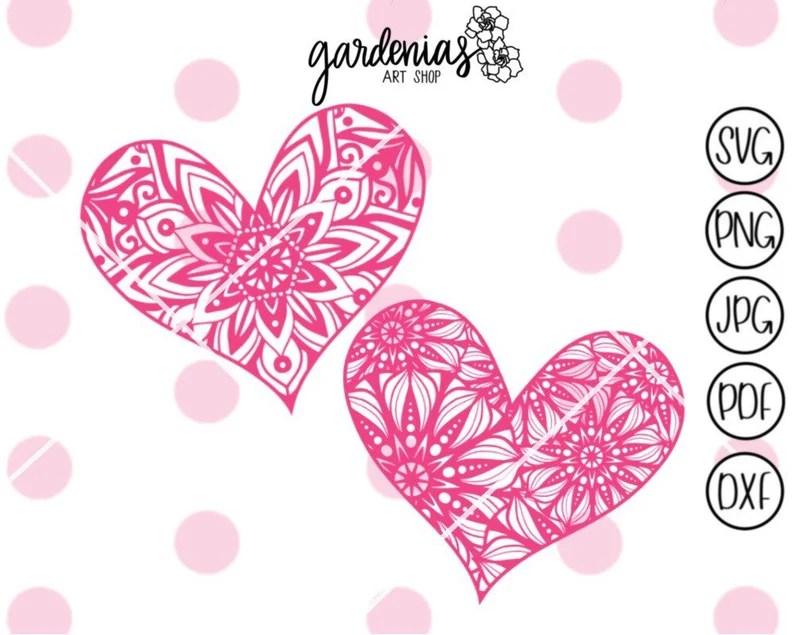 Download Heart Mandala svg Heart svg Mandala svg Love svg Mandalas ...
