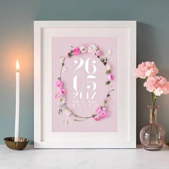 Personalised Wedding Date Print