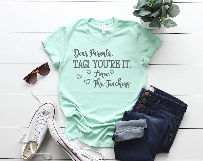 Download Dear Parents Tag You're It SVG and PNG School T-shirt | Etsy