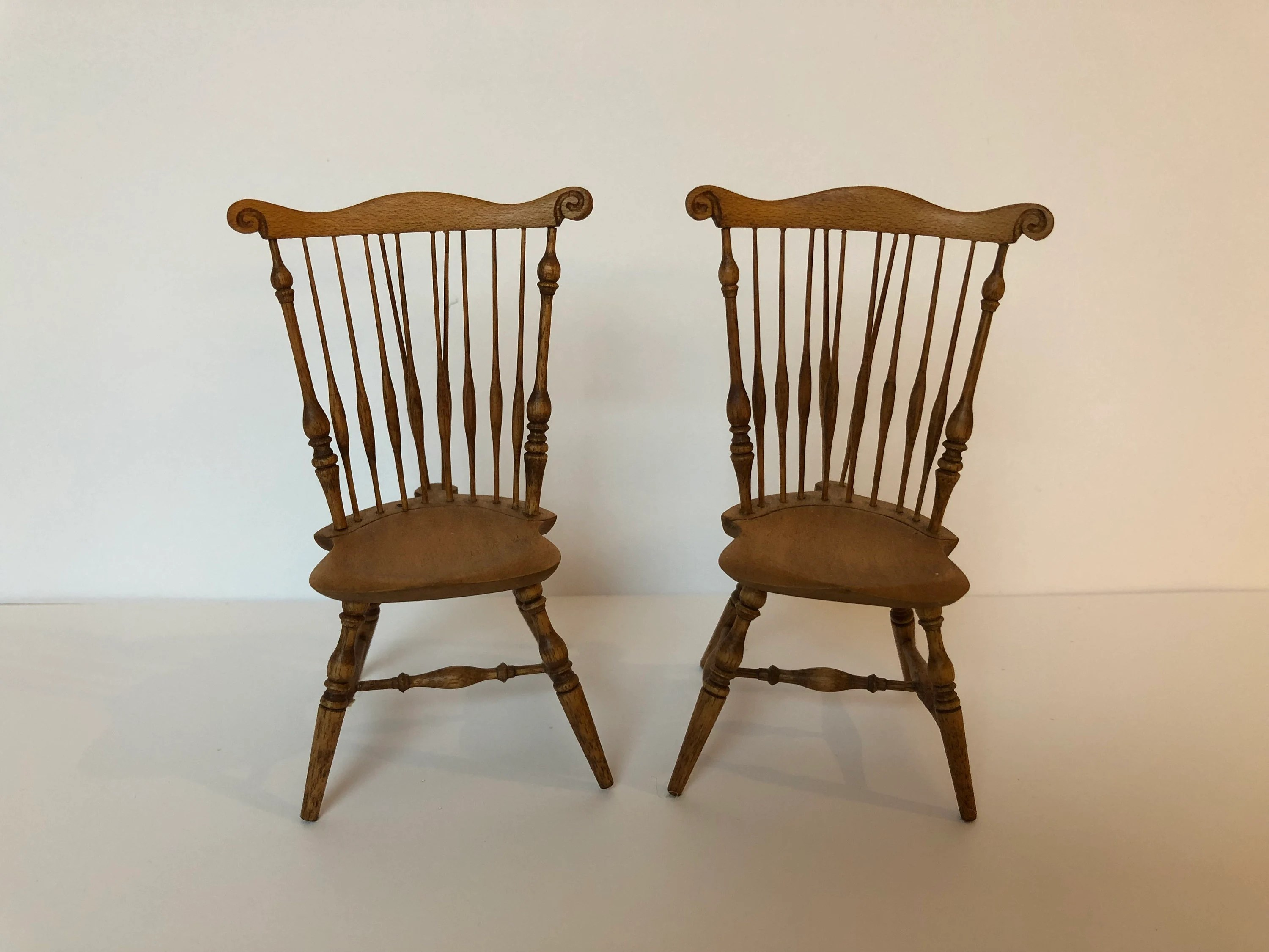antique windsor chairs used banquet etsy pair of miniature braceback
