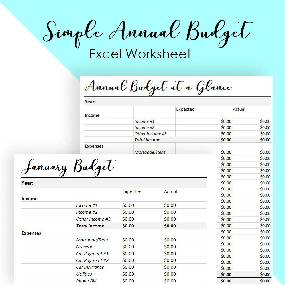 Budget templates | Etsy