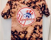 Upcycled Tie Dye Yankees T-Shirt