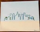City Skyline Embroidered Painting