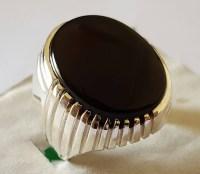 Big Kabadi Black Aqeeq Ring Yemeni Aqeeq Ring for Men Mens