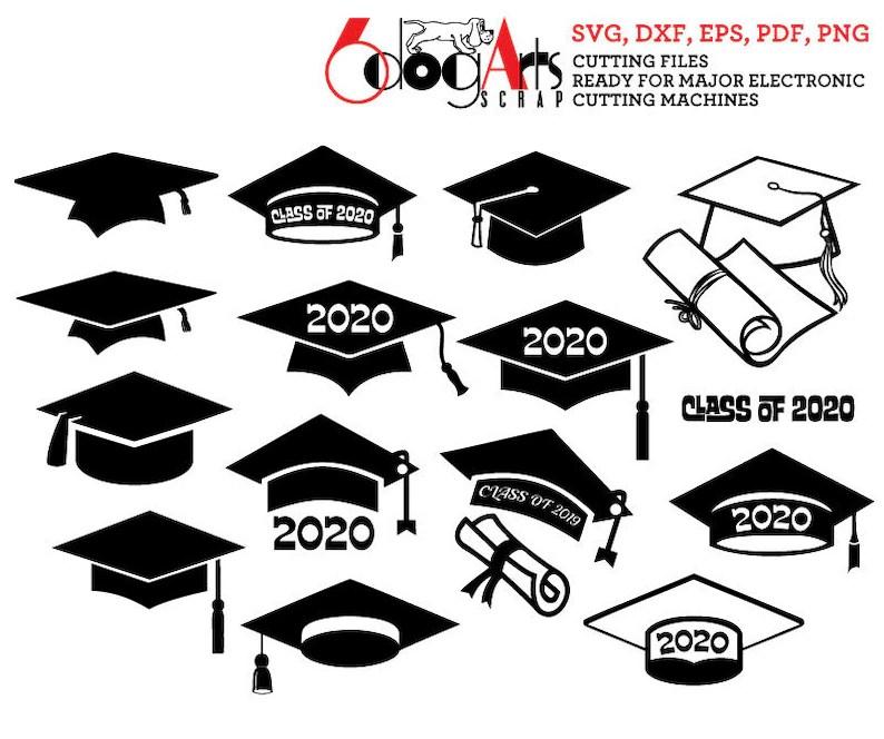 Graduation Cap Class of 2020 Digital Vector Cut Files Svg