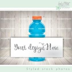 Water Bottle Mockup Psd Smart Object Minimalist Styled Etsy
