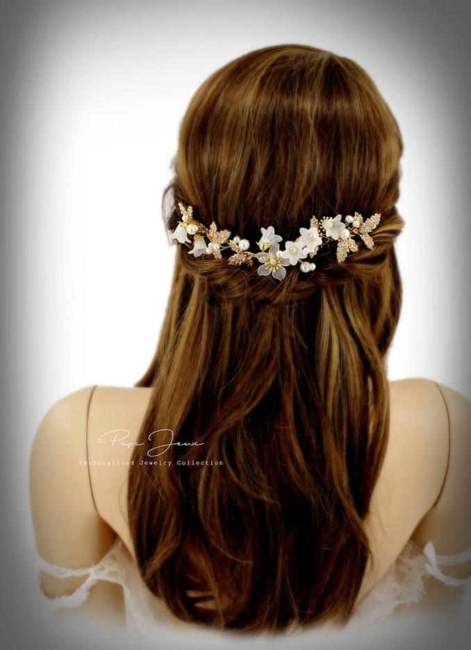 bridal hair comb crystal leaves wedding hair accessories bridal hair accessory crystal bridal comb floral comb bridal bling bridal headhand