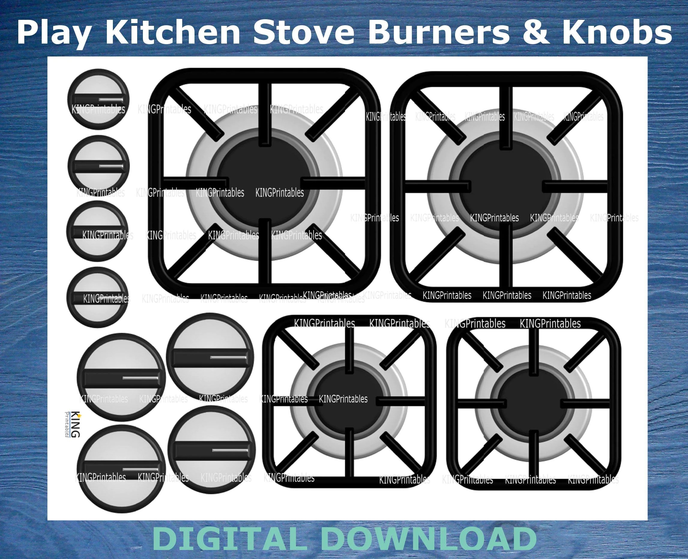 Printable Stove Burners Play Kitchen Accessories Diy Stove