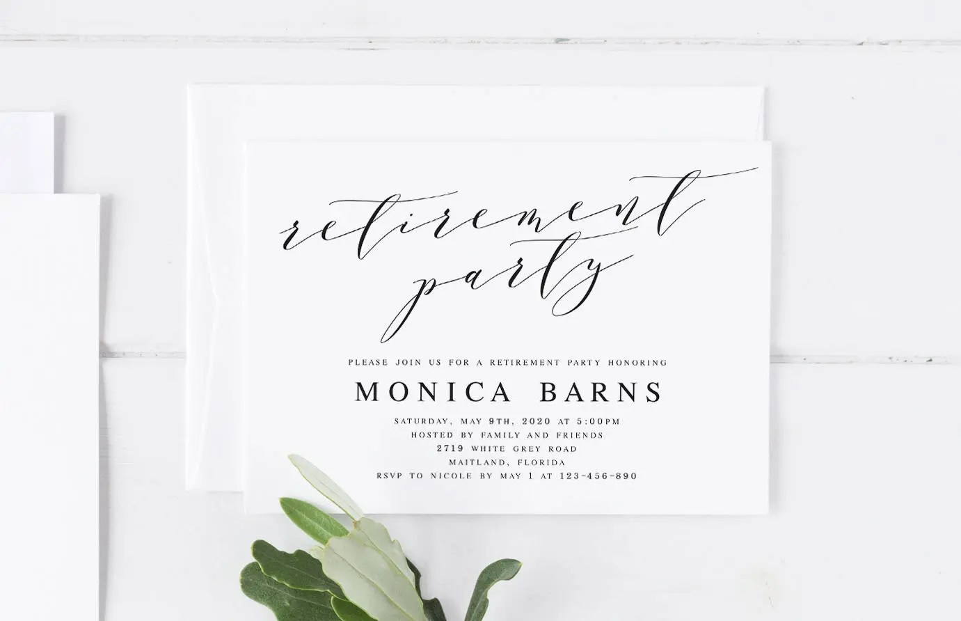 Retirement Party Invitation Template Printable Farewell