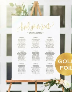 Image also updated sizes gold foil wedding seating chart etsy rh