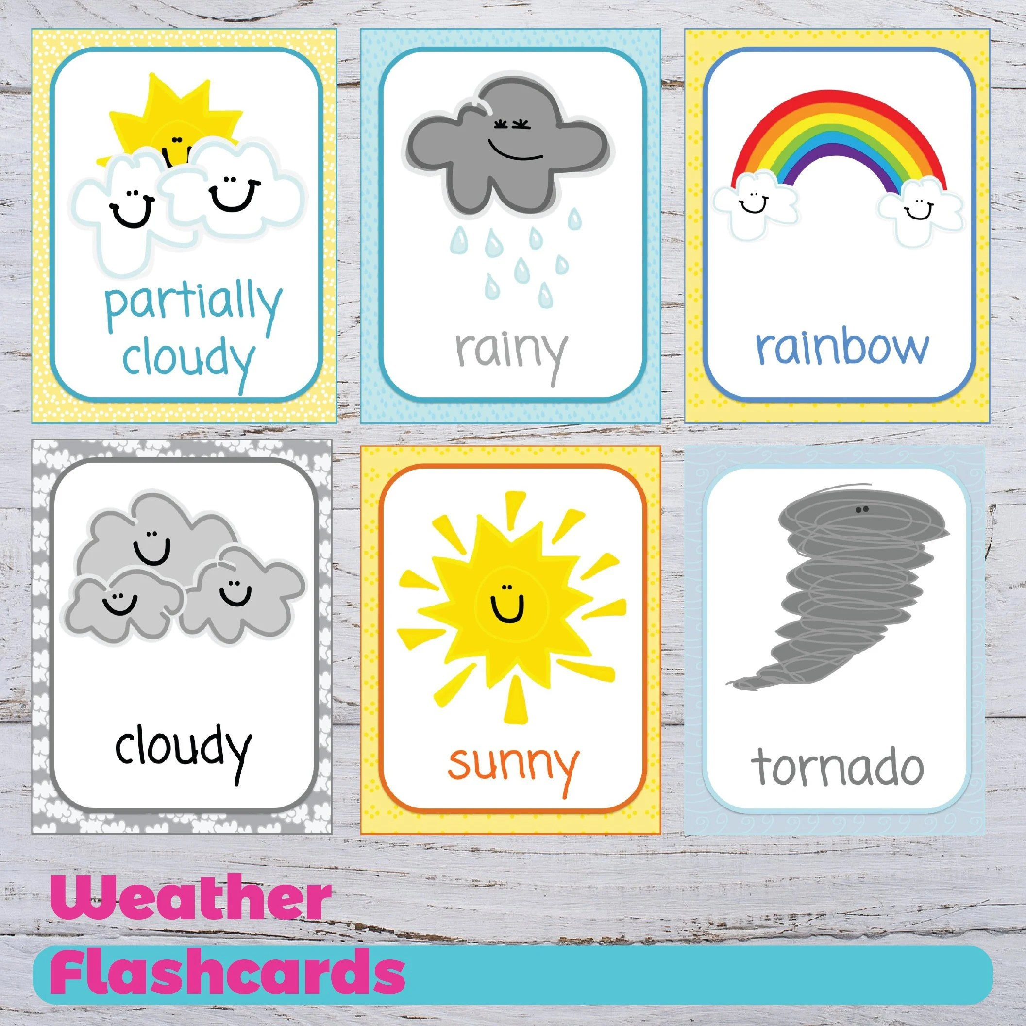 Printable Weather Flashcards Educational Flashcards