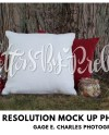 Mock Up Pillow White Mock Up Pillow Red Pillow Outdoors Etsy
