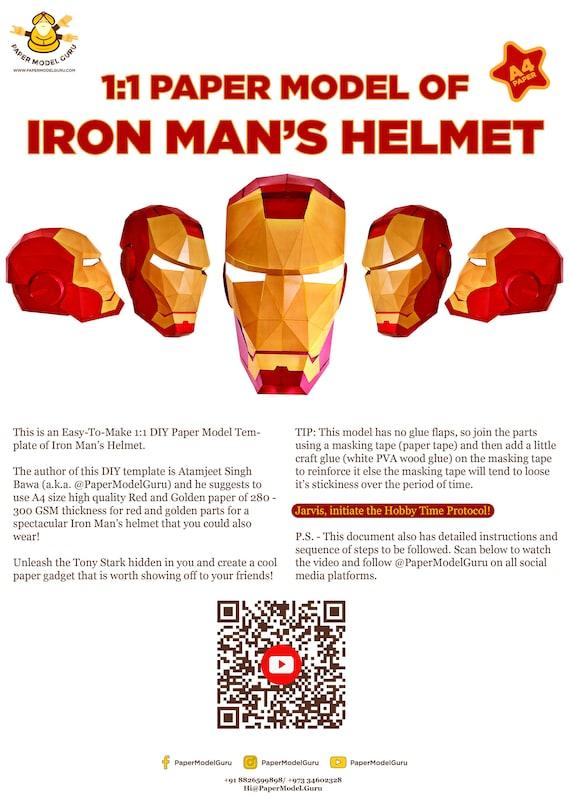 How To Make Iron Man Helmet : helmet, Helmet, Paper, Model, Cosplay, Create