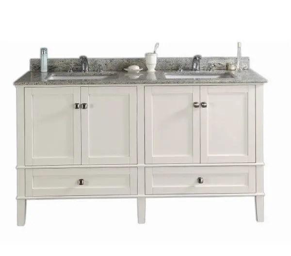 New England Shaker Style Double Bathroom Vanity Etsy