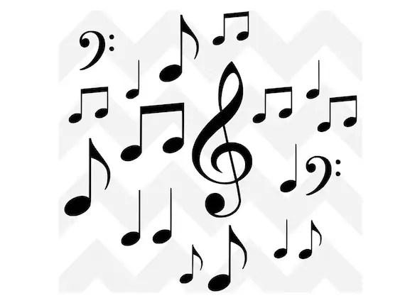 Musical Notes SVG Music Bundle SVG Music SVG Cutting File
