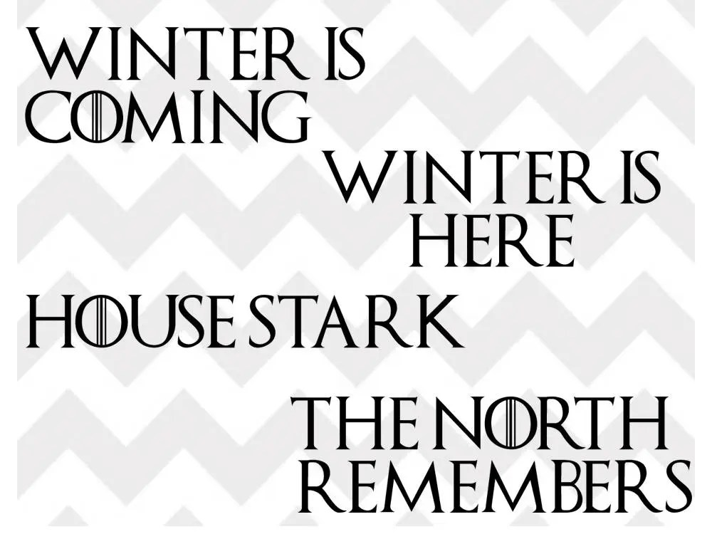Download winter is coming svg game of thrones svg jon snow house   Etsy