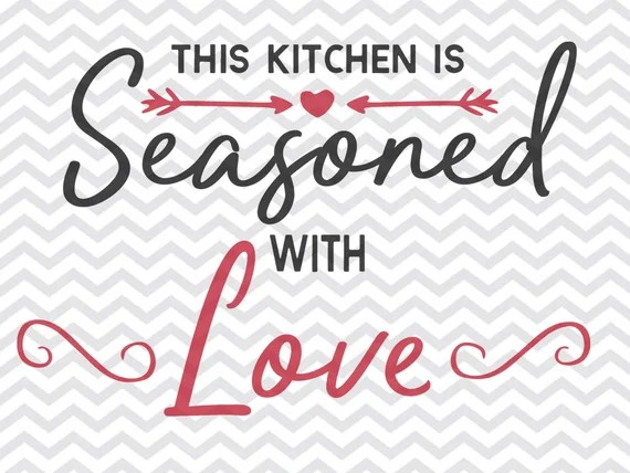 Download this kitchen is seasoned with love svg kitchen svg   Etsy