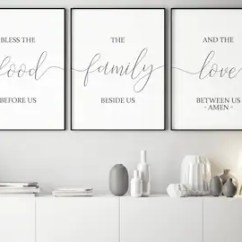 Art For Kitchen Wall Price Pfister Faucet Replacement Parts Etsy Set Of 3 Printable Bless The Food Before Us Dining Room Decor Home Signs Bible Verse