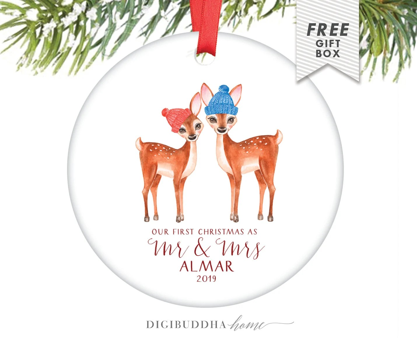First Married Christmas Ornament 2019