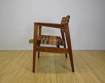 wh gunlocke chair statesville company etsy mid century modern w h walnut lounge