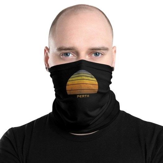Retro Perth Australia Neck Gaiter Skull Cap Face Mask ...